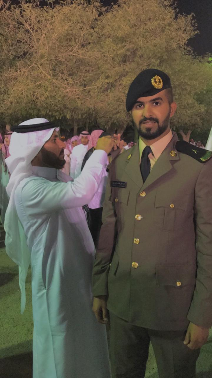 تخرج نايف فاضل العياشي برتبة ملازم من كلية الملك فهد الأمنية وعرعر اليوم تقدم التهنئة صحيفة عرعر اليوم